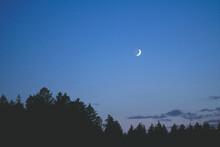 Beautiful Waxing Moon Over Munich