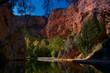 skały woda rzeka natura drzewa monasterio de piedra