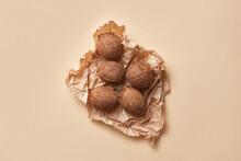 Ripe Coconuts On Paper