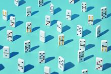 Different Dominoes Standing
