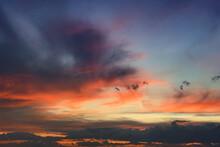 Dramatic Orange Sunset