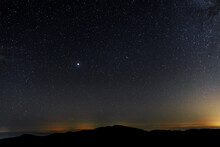 Planet Jupiter In The Starry Sky