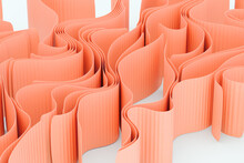 Abstract Ribbons Pastel 3D Rendering
