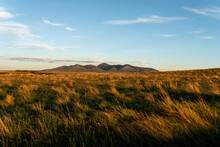 The Rugged Badlands At Dawn.