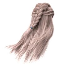 3d Render, 3d Illustration, Fantasy Long Hair On Isolated White Background