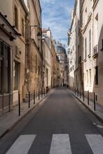 Paris Street With Pedestrian Crossing