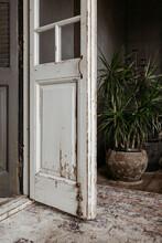 Rustic Wooden French Door