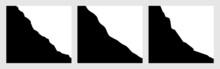 Black Rock Slope Cross Section Set