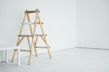 Ladder In Empty Room