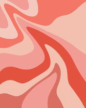 Pink Retro Wave Pattern