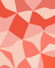 Abstract Geometric Pattern In Shades Of Pink