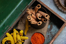 Still Life Of Cinnamon Sticks