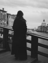 A Woman On Venetian Bridge