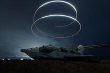 Mystic Plane Lost At Night