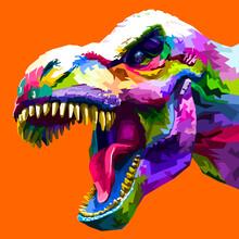 Colorful Animal Pop Art Portrait Premium Premium Vector
