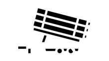 Rockets Transportation Trailer Animated Glyph Icon. Rockets Transportation Trailer Sign. Isolated On White Background