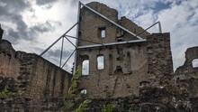 Ancient Castle Of Larochette In Luxembourg