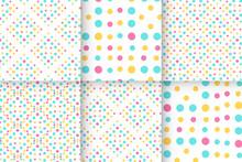 Geometric Colorful Seamless Baby Dot Pattern