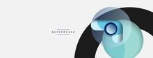 Vector Round Shapes Circles Minimal Geometric Background. Vector Illustration For Wallpaper Banner Background Or Landing Page