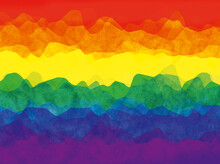 Pride LGBT Rainbow Color Flag Background With Distorted Waves