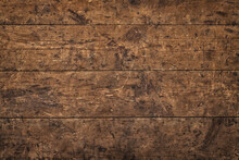 Brown Wood Texture, Dark Table From Old Boards Background