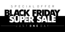 Black Friday Special Offer Banner. Limited Super Sale. Illustration, Vector