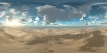 Panorama Of Sandy Desert. Environment Map, HDRI, Equidistant Projection, Spherical Panorama, Panorama 360, 3d Rendering