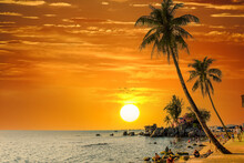 Beautiful Sunset In Phu Quoc Island, Viet Nam