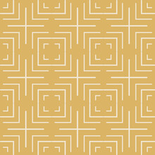 Abstract Background Pattern With Linear Geometric Gold Ornament On Black Background. Seamless Background For Wallpaper, Textures. Vector Image.