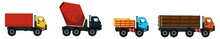 Truck Icons. Set Of Truck Icons. Delivery Icons Set.