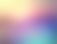 Wonderful Winter Sky Illuminated Diffused Sun Light. Blur Empty Background Of Pink Blue Yellow Gradient. Lens Flare Effect.