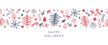 Happy Holidays And Happy New Year Holiday Greeting Card Vector.