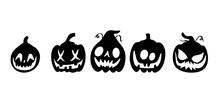 Unique, Fun And Spooky Pumpkin Vector Collection