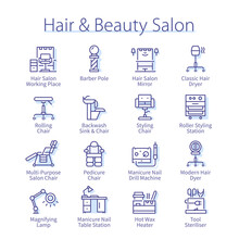 Hair And Beauty Salon Pack. Manicure, Pedicure Set