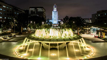 City Hall And Fountains, LA