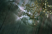 Art Photography Of Small Flowers In A Vase