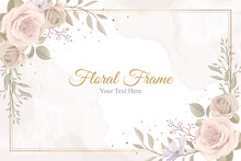 Beautiful Floral Frame Background Design