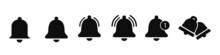 Notification Bell Icon. Alarm Symbol. Incoming Inbox Message. Ringing Bells. Alarm Clock And Smartphone Application Alert. Social Media Element. Stock Vector.
