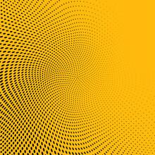 Yellow Polka Dot Pop Art Halftone Pattern