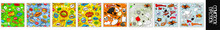 Comic Speech Bubbles Or Sound Replicas For Kaboom Explosion, Cartoon Explosion Pop Art Kit Isolate, Emotions For Comics Speech Bubble Bang And Cool, Oh Or Ooh. Comic Book Explosion