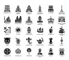 China Symbols , Glyph Icons