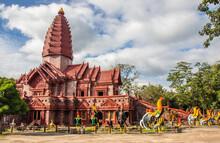The Thai Temple Wat Phrai Phatthana In Sisaket Thailand Southeast Asia