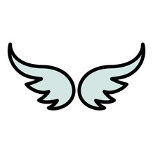 Freedom Wings Icon. Outline Freedom Wings Vector Icon Color Flat Isolated