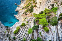 Via Krupp Is A Hairpin Turned Footpath On The Island Of Capri, Italy