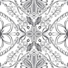 Seamless Pattern Abstract Beautiful Mediterranian Splash Native Boho Interior Home Ceramic Tile Italian Painting Texture Decoration