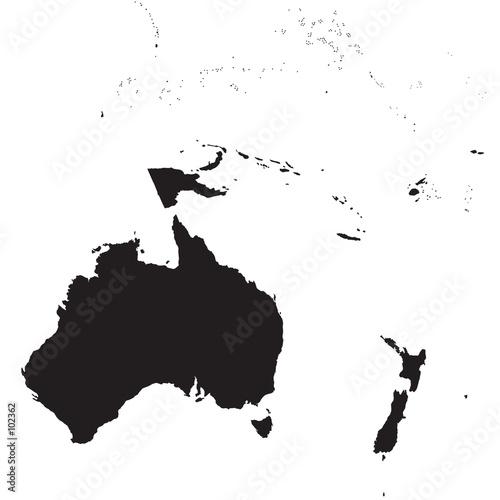 Wallpaper Mural oceania map