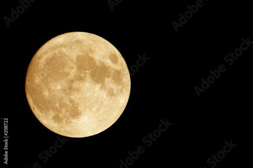 Canvastavla orange moon