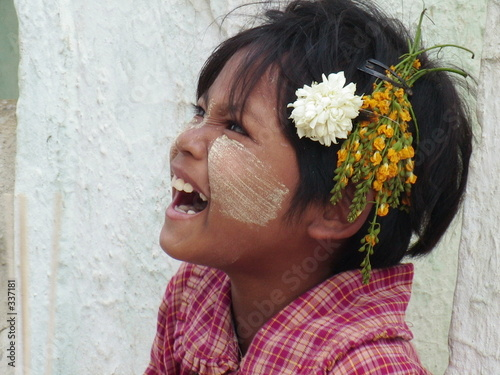 Fototapeta kind aus myanmar