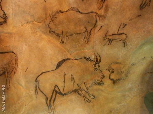 Foto peinture rupestre
