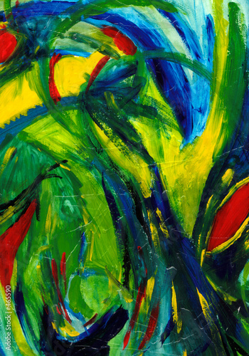 abstract art - hand painted #465590